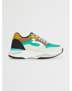 Sneaker Off White-green-yellow