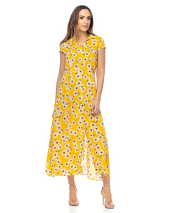 Long Shirt Dress With Daisy Print
