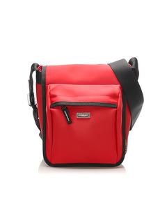 Burberry Nova Check Leather Crossbody Bag Red