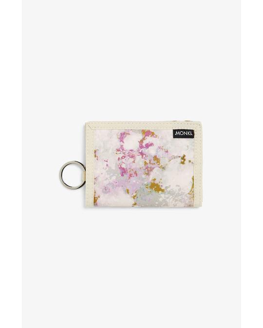 Monki Velcro wallet Gold acid wash print
