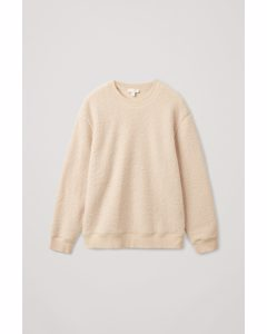 Teddy Oversized Sweatshirt Beige