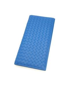 Bottega Veneta Intrecciato Leather Travel Case Blue