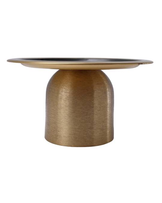 360Living Cake Platter Art Deco 225 Gold / Dark Green