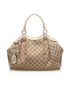 Gucci Gg Canvas Sukey Tote Bag Brown