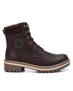 Pu Ladies Ankle Boots Brown