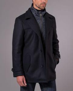 Wille Wool Pea Coat Black