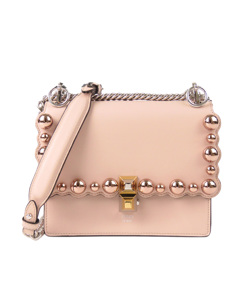 Fendi Small Kan I Pearl Leather Crossbody Bag Pink