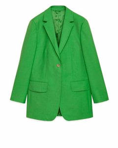 Twill Blazer Green