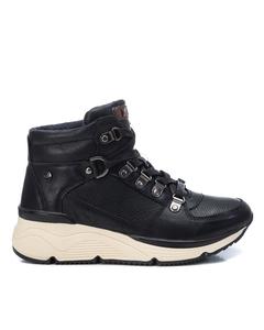 Pu Ladies Ankle Boots  Black