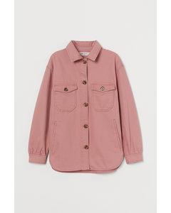 Blusenjacke aus Twill Altrosa