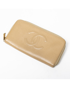 Front Logo Zip Around Wallet