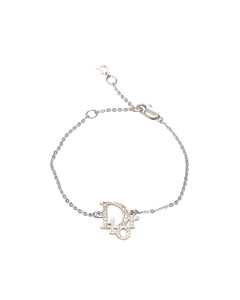 Dior Logo Charm Bracelet Silver