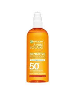Garnier Ambre Solaire Sensitive Advanced Nourishing Protective Oil Spf50+ 150ml