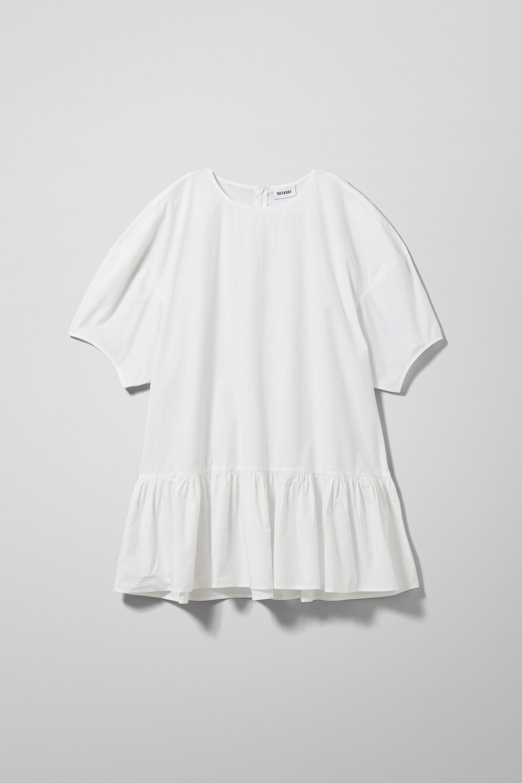 Elda Poplin Dress White