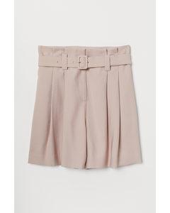 Paperbag-Shorts Puderrosa