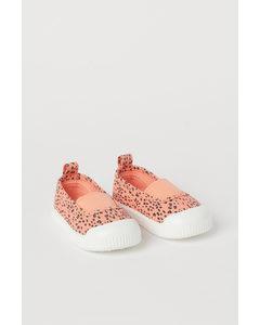 Slip-on-Sneaker Apricot/Leopardenmuster