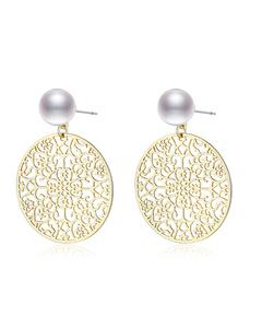 Spinn Pearl Earring Gold