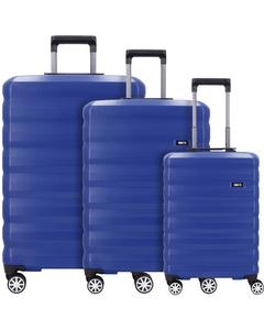 Rimini 4-Rollen Kofferset 3tlg. mit Doppelrollen