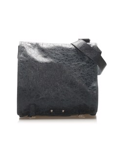 Balenciaga Agneau Messenger Leather Crossbody Bag Blue