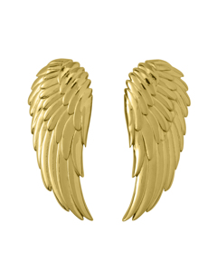 Angel Earrings Large Gold