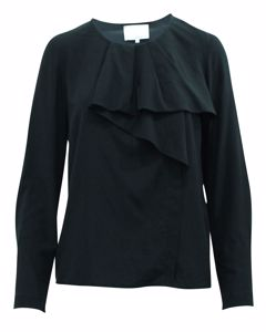 Black Blouse With Frill