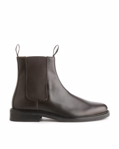 Leather Chelsea Boots Dark Brown