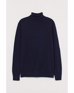 Polotröja I Premium Cotton Marinblå