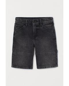 Comfort Stretch Denim Shorts Schwarz