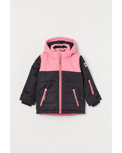 Waterproof Ski Jacket Pink/block-coloured
