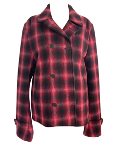 Red Tartan Double Breasted Coat