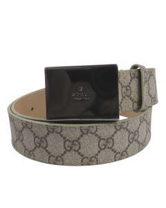 Gucci Gg Supreme Belt Brown