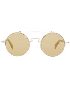 Yohji Yamamoto Mint Unisex Gold Sunglasses Yy7028 48480 48-23-140 Mm