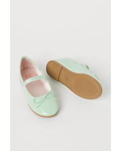 Ballerinaskor Mintgrön