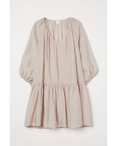 Luftiges Kleid Hellbeige