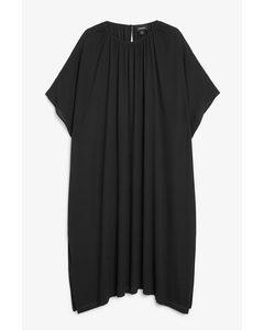 Oversized Trapeze Dress Black