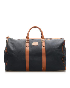 Burberry Canvas Travel Bag Brown