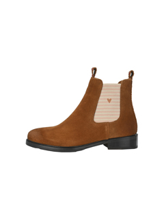 Chelsea Boot Jule With Stripes And Small Hearts