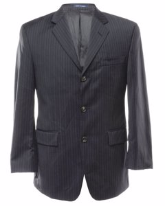 Chaps Pinstriped Wool Blazer