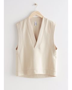 Relaxed Cotton Vest Cream