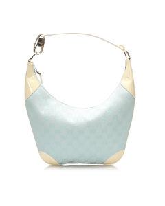 Gucci Gg Canvas Hobo Bag Blue
