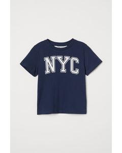 T-shirt I Bomull Mörkblå/nyc
