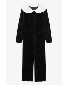 Big Collar Jumpsuit Black