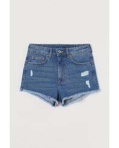 Jeansshorts High Waist Blau/Trashed