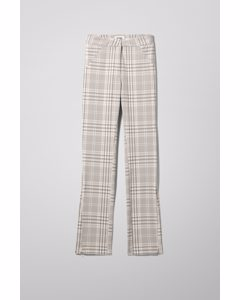 Alecia Trousers Beige/checked