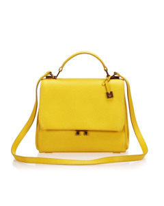 Mcm Leather Satchel Yellow