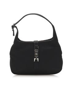 Gucci Jackie Satin Shoulder Bag Black