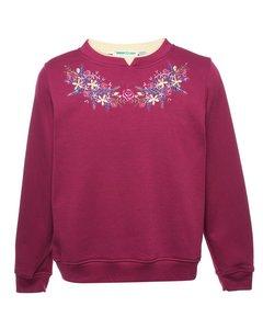 Petites Floral Printed Sweatshirt