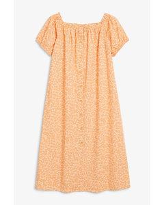Maxi Smock Dress Burnt Orange