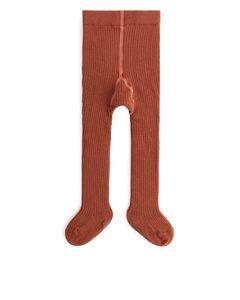 Strumpfhose aus Pima-Baumwolle Terrakotta