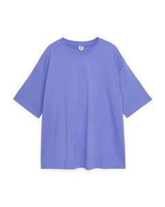 Oversized-T-Shirt Lila/blau